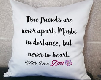 Quote Pillow, Friendship Pillow, Best Friend Pillows, Name Pillow,  Custom Pillow, Personalized Pillow, 14X14' (35X35cm) With Inner Cushion