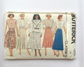 80s long skirt sewing pattern, 80s maxi skirt pattern, long skirt pattern, Butterick 3774 skirt pattern, vintage sewing pattern, UNCUT