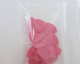 100 red fondant hearts. Made to order