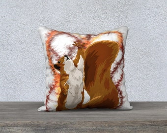 pillow animals, Cushion animals, square pillow, decoration, squirrel, child, bedroom, 18X18