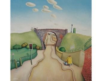 Bristol print - Glenfrome road, Brstol - limited edition giclee print - Bristol art