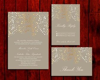 Rain or Shine; Wedding Invitation Suite; Print at Home Wedding Invitations