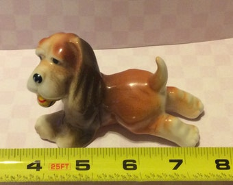 Adorable Dog Figurine -Bone China