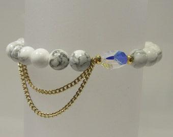Chain Bracelet, Chain Bracelets, Beaded Bracelet, Beaded Brcelets, Beaded Chain Bracelet, Fringe Bracelet, Beaded Swarovski Crystal Bracelet