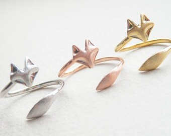 Fox ring - Gold, Silver, Pink gold - Jewelry