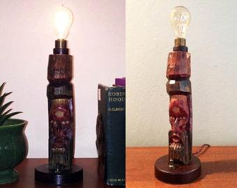 Rustic Statue Accent Lamp