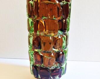 Škrdlovice Glass Vase by Frantisek Vizner