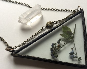 Pressed Wildflower Pendant