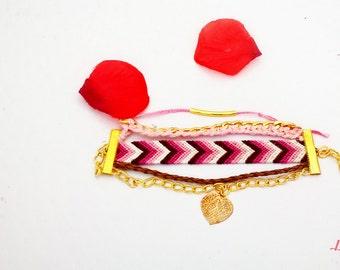 Brazilian cuff pink & Fuchsia