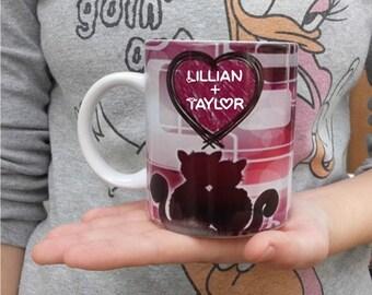 Heart kitty mug