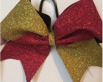Full Glitter Tic Tock Cheer Bow