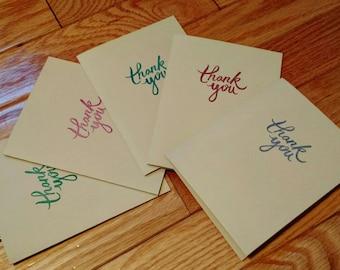 Thank you card set, mini cards, mini card set, thank you card, card gift set, set of cards, coworker gift, teacher gift, greeting cards