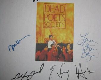 Dead Poets Society Signed Film Movie Screenplay Script Autographs Robin Williams Ethan Hawke Josh Charles Robert Sean Leonard Norman Lloyd