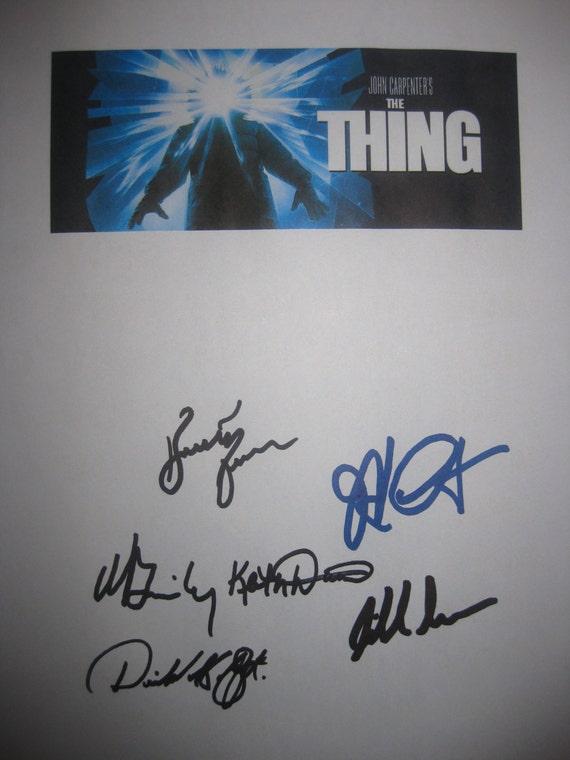 The Thing Signed Movie Film Screenplay Script Autographs Kurt Russell John Carpenter Wilford Brimley Keith David Richard Masur Moffat