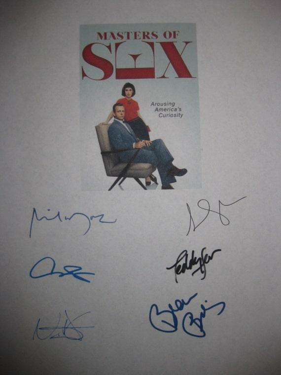 Masters of Sex Signed TV Script Screenplay x6 Autographs Michael Sheen Lizzy Caplan Beau Bridges Caitlin FitGerald Teddy Sears D'Agosto