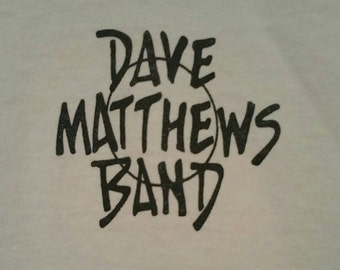 Vintage Dave Matthews Band Tshirt, Early 90s DMB Tour Shirt,  Extremely Rare and Hard to Find Design, Size Small S, Immaculate Condition