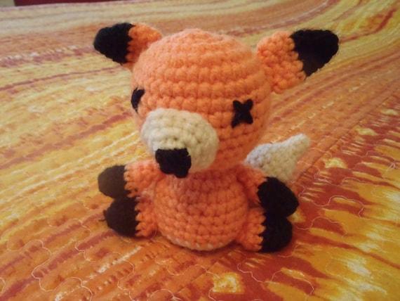 Crochet orange and white Fox Amigurumi Toy Stuffed animal