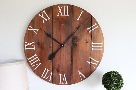 Large Wall Clock Wall Clock Rustic Wall Clock Living Room