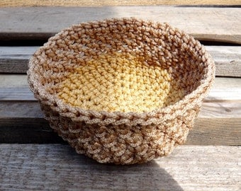 Crochet Basket, Home Decor, Knit Basket