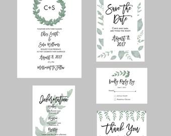 Printable Wedding Invitation Package