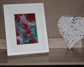 Abstract Resin Art Framed
