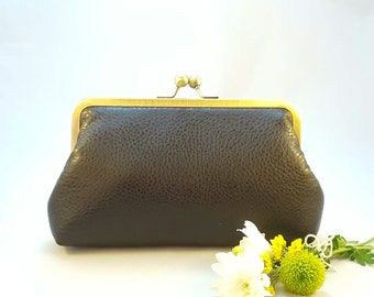 Black Clutch pebbled Faux Leather, evening clutch, bridesmaids gift bag, wedding clutch bag, race day, bespoke bag, Statement Clutch UK