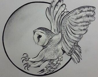Barn Owl geometric