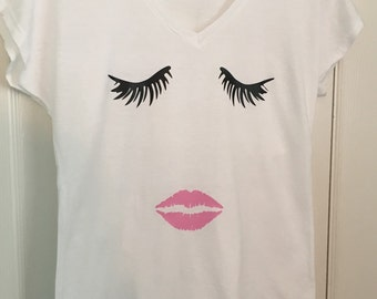 Lashes and Lips Tee