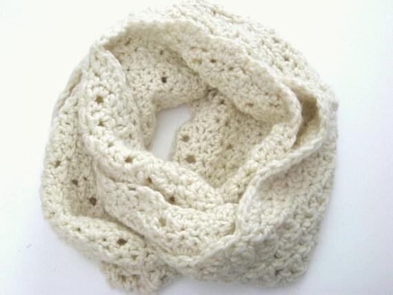 Crochet Infinity Scarf Pattern, Lacy Crochet Pattern, Two ...