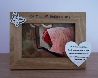 First Mothers Day Gift Mummy Personalised Photo Frame