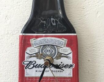 Budweiser beer bottle clock