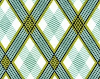 SALE Fabric - Joel Dewberry - Picnic Plaid in Pond - Navy - Cotton fabric by the yard  (last yard)