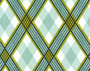 Fabric by the yard  - Joel Dewberry - Picnic Plaid in Pond - Navy