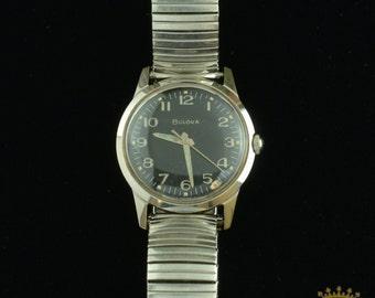 Vintage Bulova Wrist Watch Stainless