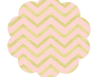 Pearlized Chevron cotton fabric. Blush with metallic gold chevron fabric. Metallic cotton fabric. Apparel/quilt fabric. DIY sewing fabric.