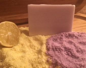 Lemon Lavender Handmade Soap Goats Milk Detergent Free 5oz