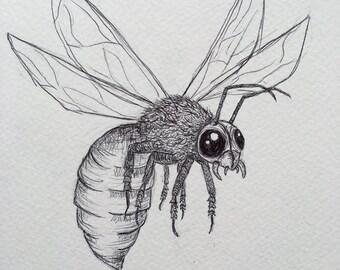 BUG EYES charity bug illustration print