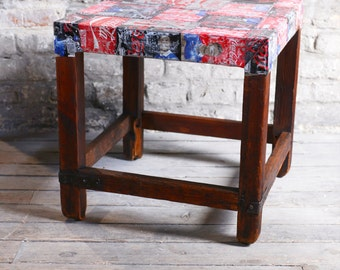 Low table table Coca-Cola with a vintage furniture from 50's