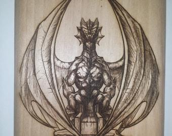 Dragon Behind a Throne Home Decor