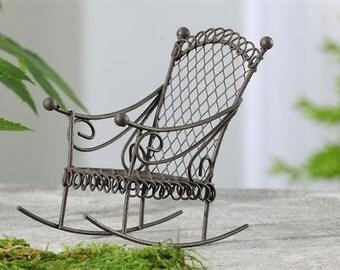 Miniature Iron Rocking Chair