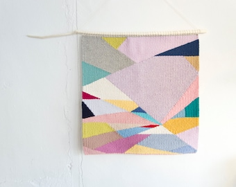Woven Wall Hanging, Handmade Tapestry