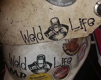 Weld Life Decal, Welder Decal, Welding Decal