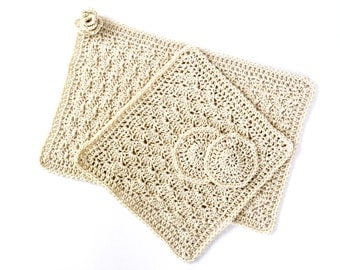 Washcloth crochet linen, no.,. 1, ShabbyChic, 100% cotton wash cloth, handmade washcloth, bathtowel, crochet towel, bath