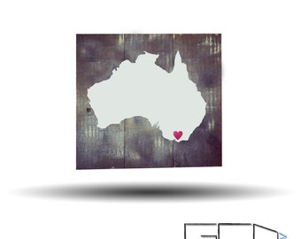 For The Love Of Melbourne Reclaimed Wood wall art