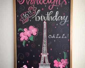 Unique Paris Chalkboard Related Items Etsy