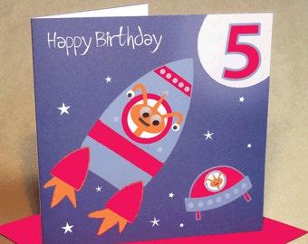 Age 5 Boy Birthday Card
