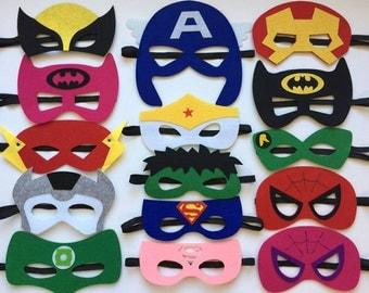 SET OF 15 Superhero Party Masks, Superhero Party Favors, Superhero Party Decorations, Superhero Party, Superhero Birthday Party, Superhero