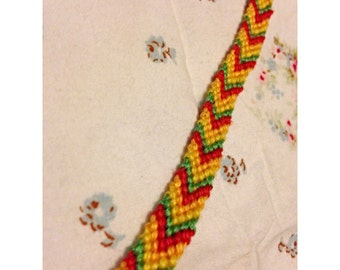 Custom 4 Colour, 8 Strand, Chevron Friendship Bracelet