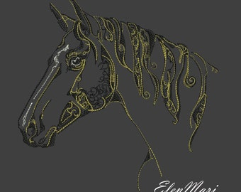 MACHINE EMBROIDERY DESIGN - Horse