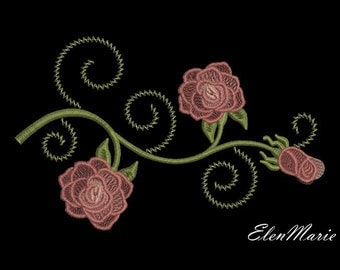 MACHINE EMBROIDERY DESIGN - Roses
